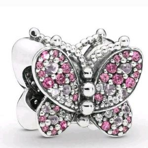 Pandora pink dazzling butterfly charm.